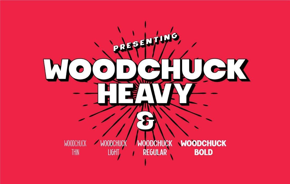 Woodchuck - Free Bold YouTube Font