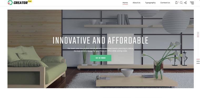 Free HTML5 Theme for Exterior Design Website Website Template.