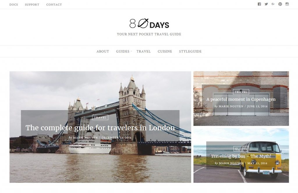 Fastest WordPress themes - EightyDays