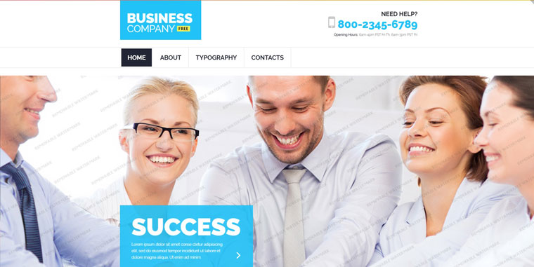 Free Business Responsive Template Website Template.