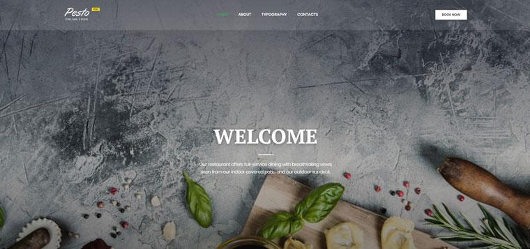 Cafe & Restaurant Free Website Templates Website Template.