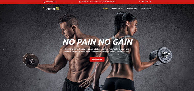Free HTML5 Theme for Sport Site Website Template.