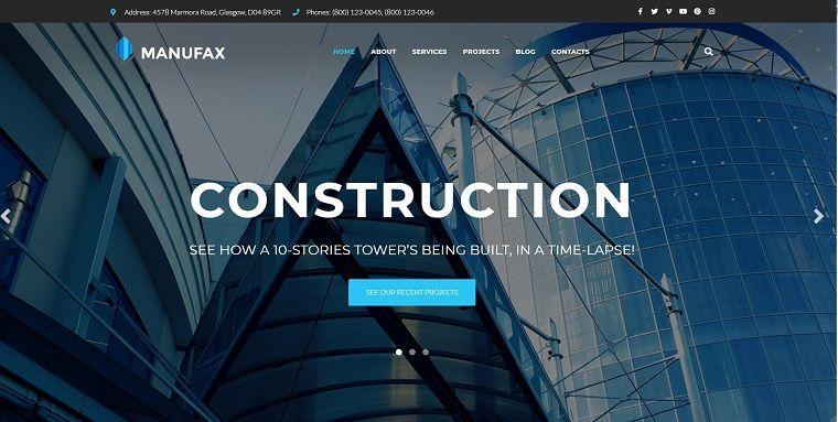 Manufax - Construction Multipurpose Creative Elementor WordPress Theme