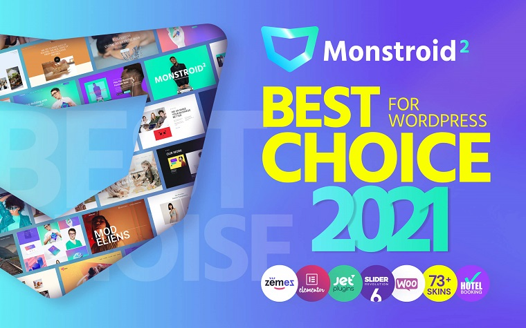 Monstroid2 - Multipurpose Modular Elementor WordPress Theme.