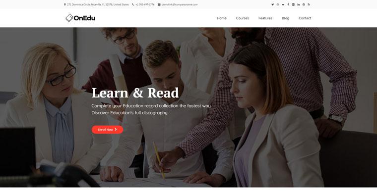 Onedu - Education Courses LMS WordPress Theme.